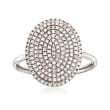 .35 ct. t.w. Pave Diamond Oval Ring in 14kt White Gold