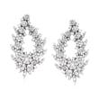 5.00 ct. t.w. Diamond Floral Drop Earrings in 14kt White Gold