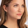 14kt Yellow Gold Paper Clip Link Drop Earrings