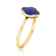 Italian Lapis Clover Ring in 14kt Yellow Gold