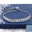 .50 ct. t.w. Diamond Chain-Link Bolo Bracelet in Sterling Silver