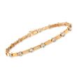 1.00 ct. t.w. Bezel-Set Diamond Linear Station Bracelet in 14kt Yellow Gold
