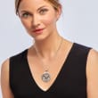 """Sterling Silver Bali-Style Turtle """"Stay Strong"""" Pendant Necklace"""