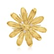 C. 1980 Vintage .15 ct. t.w. Diamond and 18kt Yellow Gold Flower Pin