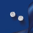 2.40 ct. t.w. Diamond Stud Earrings in 14kt White Gold