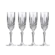 """Marquis by Waterford Crystal """"Markham"""" Set of 4 Flute Glasses from Italy"""