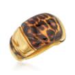Italian Leopard-Print Enamel Ring in 14kt Yellow Gold