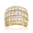 4.00 ct. t.w. Diamond Multi-Row Ring in 14kt Yellow Gold