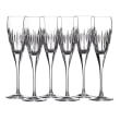 "Waterford Crystal ""Ardan"" Set of Six Mara Flutes"
