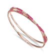 2.50 ct. t.w. Ruby and .52 ct. t.w. Diamond Wrap Bracelet in 18kt Rose Gold