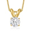 .33 Carat Diamond Pendant Necklace in 14kt Yellow Gold