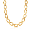 Roberto Coin 18kt Yellow Gold Oval Link Necklace