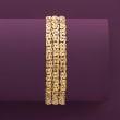 18kt Gold Over Sterling Three-Row Byzantine Bracelet