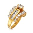 C. 1980 Vintage 2.15 ct. t.w. Diamond Ring in 14kt Yellow Gold