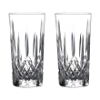 """Waterford Crystal """"Gin Journeys"""" Set of Two Lismore Highball Glasses"""