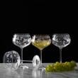 "Mikasa ""Vintage Floral"" Set of 4 White Wine Glasses"