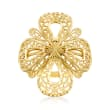 Italian 14kt Yellow Gold Filigree Cut-Out Ring