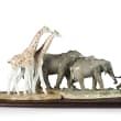 "Lladro ""African Savannah"" Porcelain Figurine Set"