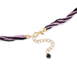 Italian Multicolored Murano Bead Pendant Necklace in 18kt Gold Over Sterling