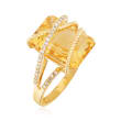 7.00 Carat Citrine and .15 ct. t.w. Diamond Ring in 14kt Yellow Gold