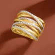 .25 ct. t.w. Diamond Highway Ring in 18kt Gold Over Sterling