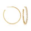 1.10 ct. t.w. Baguette Diamond Hoop Earrings in 14kt Yellow Gold
