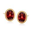 1.40 ct. t.w. Garnet Earrings in 14kt Yellow Gold