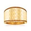 Italian 14kt Yellow Gold Honeycomb Pattern Ring