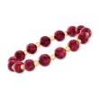 90.00 ct. t.w. Ruby Bead Stretch Bracelet with 14kt Yellow Gold