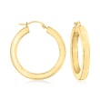 Andiamo 14kt Yellow Gold Over Resin Hoop Earrings