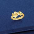 Italian 14kt Yellow Gold Flower Ring