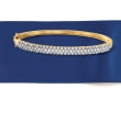 .75 ct. t.w. Diamond Bangle Bracelet in 18kt Gold Over Sterling