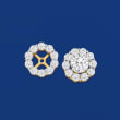 1.00 ct. t.w. Diamond Earring Jackets in 14kt Yellow Gold
