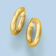 Italian 14kt Yellow Gold Hoop Earrings