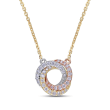 .23 ct. t.w. Diamond Circle Necklace in 14kt Tri-Colored Gold
