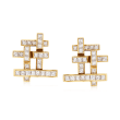 C. 1980 Vintage Hammerman Brothers 3.75 ct. t.w. Diamond Clip-On Earrings in 18kt Yellow Gold