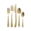 "Vietri ""Settimocielo Oro"" 5-pc. 18/10 Stainless Steel Place Setting from Italy"