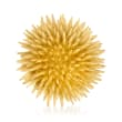 C. 1980 Vintage Tiffany Jewelry 18kt Yellow Gold Sea Urchin Pin