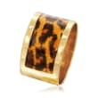 Italian Leopard-Print Enamel Ring in 14kt Yellow Gold