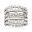 2.50 ct. t.w. CZ Jewelry Set: Five Eternity Bands in Sterling Silver