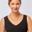 Italian 18kt Gold Over Sterling Paper Clip Link Necklace 18-inch