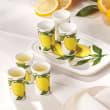 Abbiamo Tutto Limoncello Ceramic Set: Small Tray and Six Glasses from Italy
