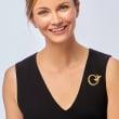 "C. 1990 Vintage Tiffany Jewelry ""Paloma Picasso"" 18kt Yellow Gold XO Pin"