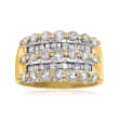 C. 2000 Vintage 1.85 ct. t.w. Diamond Ring in 14kt Yellow Gold