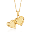 Baby's 14kt Yellow Gold Heart Locket Necklace
