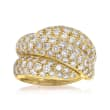 C. 1980 Vintage 3.00 ct. t.w. Diamond Bypass Ring in 18kt Yellow Gold
