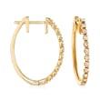 .25 ct. t.w. Diamond Hoop Earrings in 14kt Yellow Gold