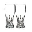 "Waterford Crystal ""Connoisseur"" Set of 2 Lismore Beer Glasses"
