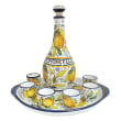 Abbiamo Tutto Limoncello Ceramic Set: Bottle, Serving Tray and 6 Glasses from Italy