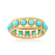 Simulated Turquoise Ring in 18kt Gold Over Sterling Silver